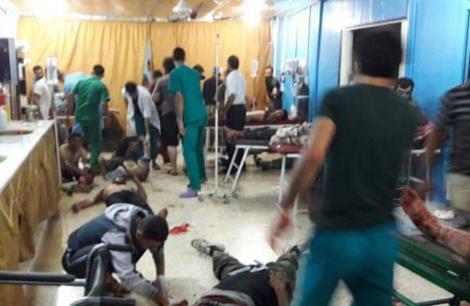 صورة للتفجير الانتحاري في معبر أطمة