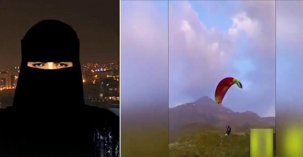 أول سعودية تمارس الطيران الشراعي تصف شعورها لحظة تحليقها في السماء