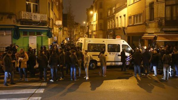 من مكان مداهمة الشرطة البلجيكية