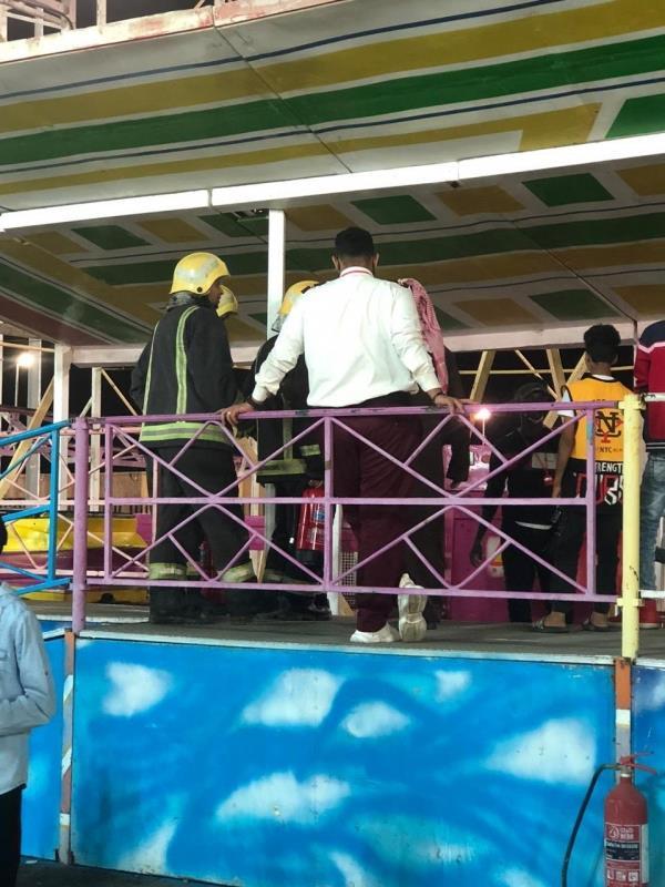 احتجاز متنزهين في إحدى ألعاب مهرجان جازان الشتوي