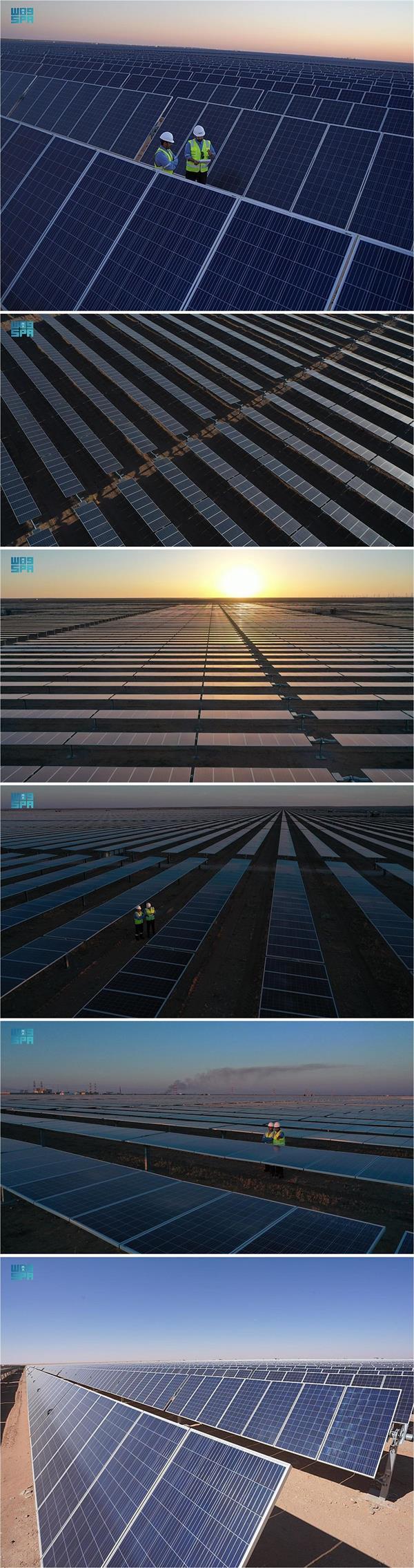 افتتاح مشروع محطة سكاكا لإنتاج الكهرباء من الطاقة الشمسية وتوقيع اتفاقيات شراء الطاقة لـ 7 مشروعات جديدة
