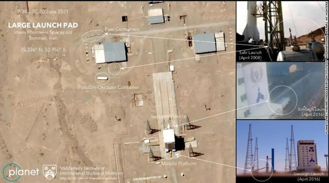 إيران تفشل مرة أخرى في إطلاق صاروخ في الفضاء .. والصور تظهر استعدادات لمحاولة أخرى