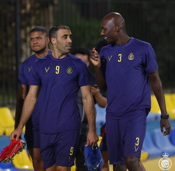 جانب من تدريبات النصر قبل مواجهة الوحدة الإماراتي
