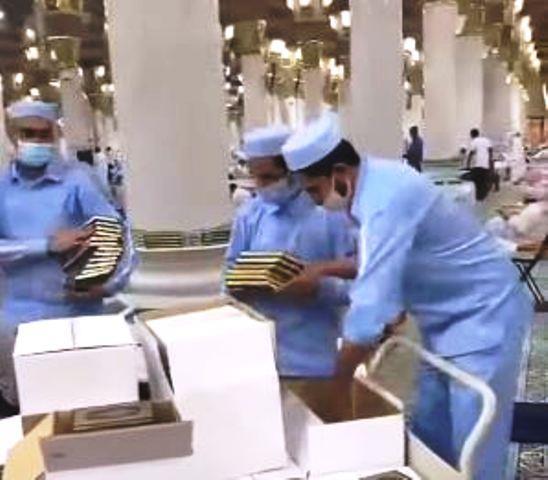 إعادة المصاحف إلى المسجد الحرام والمسجد النبوي