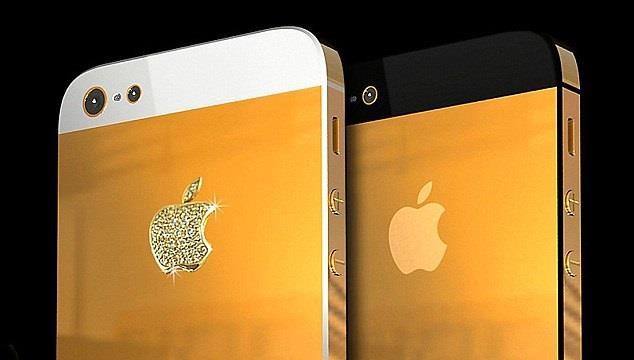 آيفون 5 بالذهب واللماس