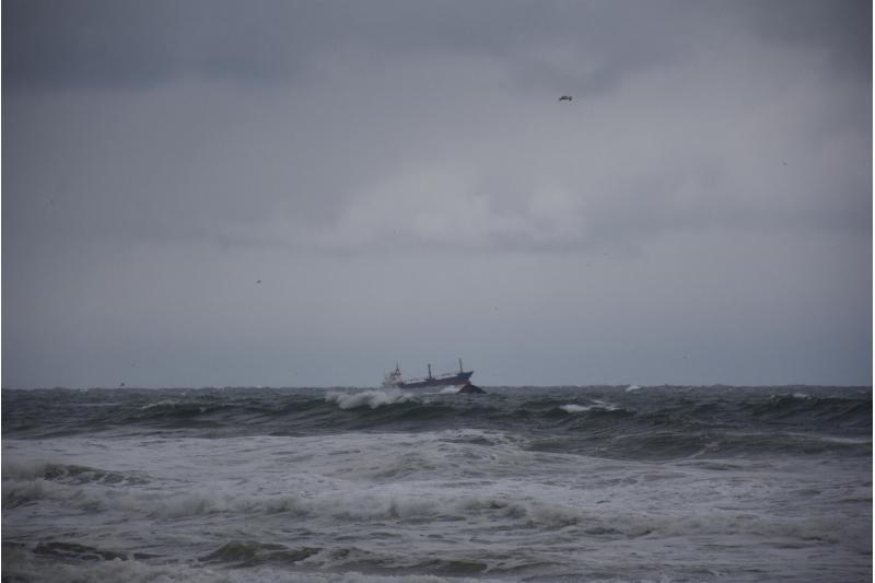 غرق سفينة روسية في البحر الاسود