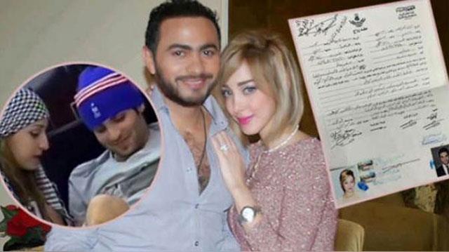 مفاجأة مثيرة وراء طلاق تامر حسني وبسمة بوسيل