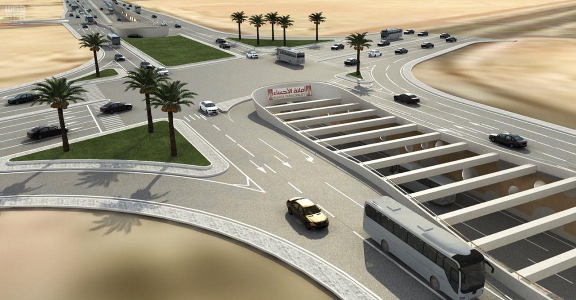 """بالصور.. """"أمانة الأحساء"""" تنهي تصميمات إنشاء جسور وأنفاق في 10 تقاطعات رئيسية"""
