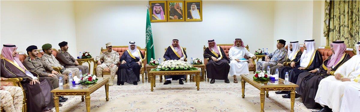"""أمير نجران: ذوو الشهداء في قلب الملك سلمان.. وتأسيس أول فرع لجمعية """"الواجب"""" بالمنطقة"""