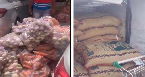 """""""التجارة"""" تتفاعل مع مقطعي فيديو لتعبئة مواد غذائية داخل مركبتين بمكة والمزاحمية"""