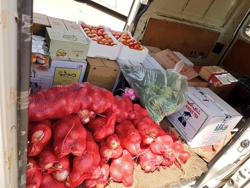 بلدية النعيرية تصادر 195 كليو جرامًا من المواد الغذائية والخضار