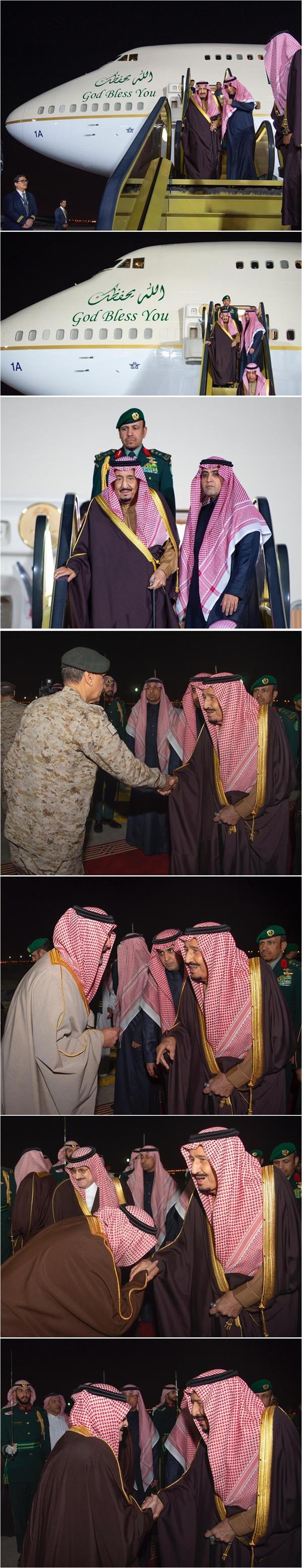 خادم الحرمين يصل الرياض قادماً من عمان