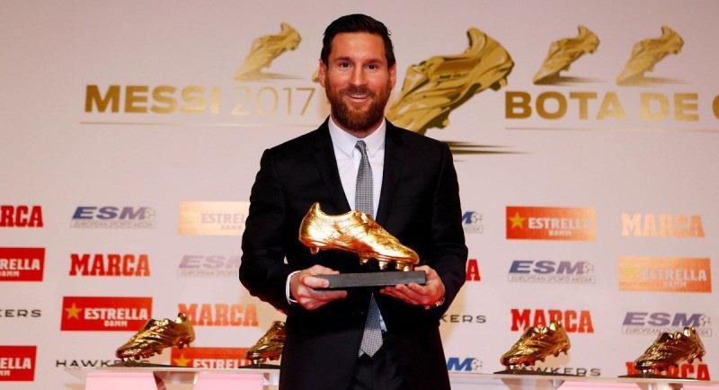 ميسي يحصد الحذاء الذهبي السادس في مسيرته