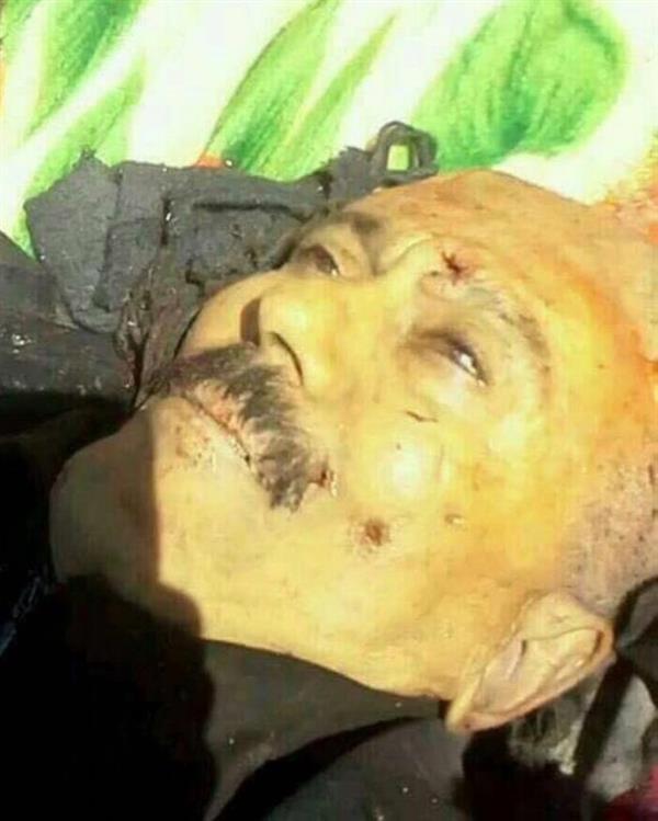 صوره علي عبدالله صالح بعد مقتله