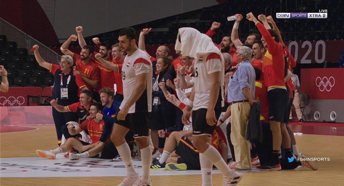 جانب من مباراة منتخب مصر وإسبانيا
