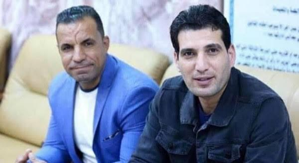 الإعلامي العراقي أحمد عبدالصمد والمصور صفاء غالي