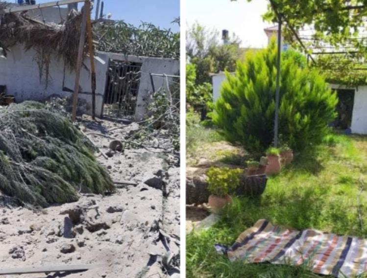 شاهد كيف غيرت غارة إسرائيلية مزرعة عائلة فلسطينية في غزة