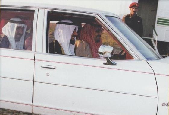 الملك فهد بصحبة الشيخ جابر الاحمد