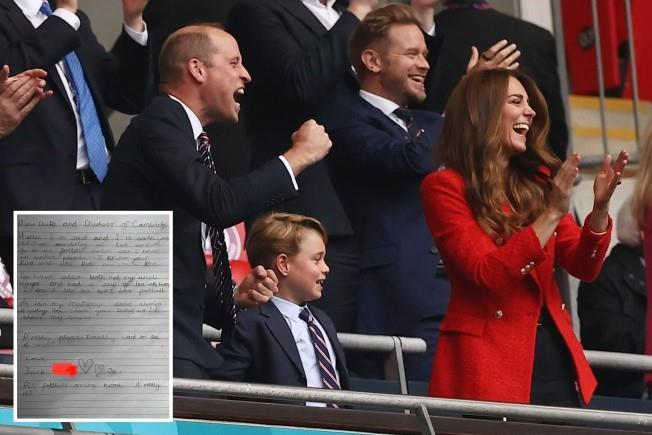 طفل إنجليزي يناشد الأمير ويليام اصطحابه لمشاهدة نهائي يورو 2020
