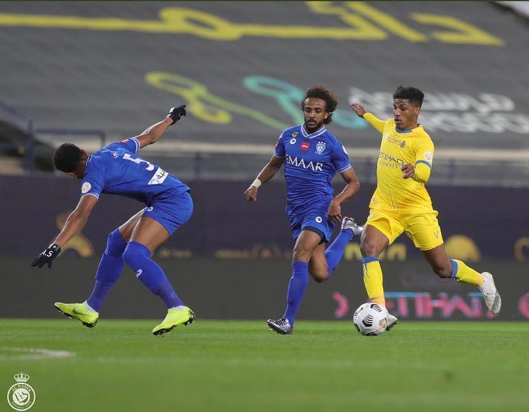 رائد الغامدي خلال مباراة النصر والهلال