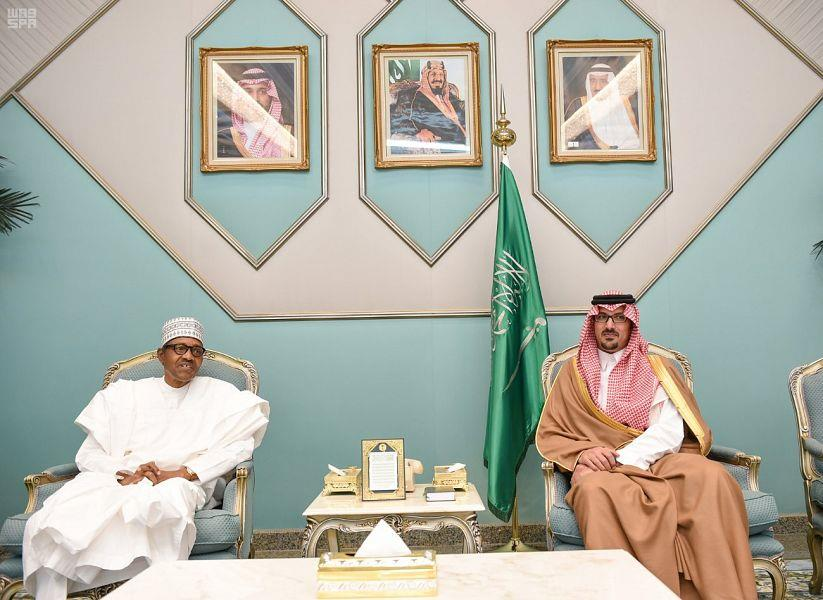 رئيس جمهورية نيجيريا الاتحادية يصل إلى المدينة المنورة