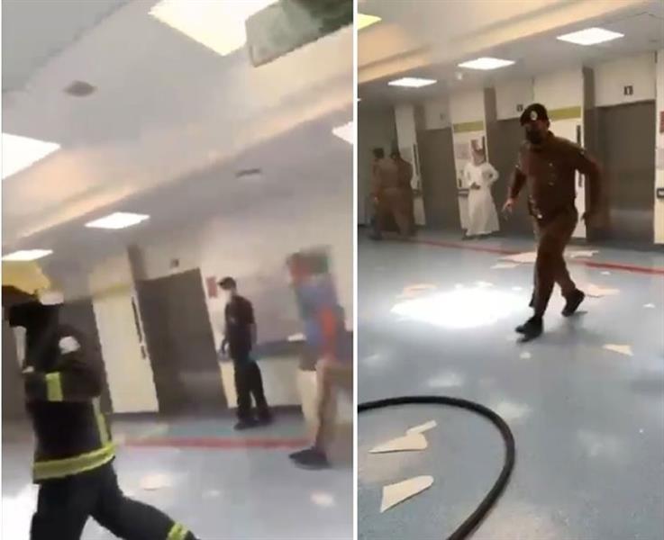 حريق مستشفى الملك سعود بعنيزة