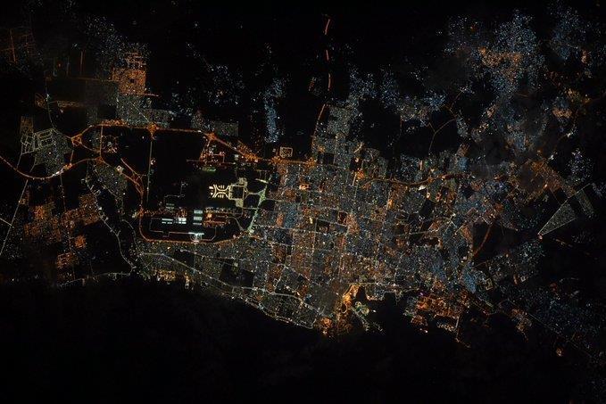 صورة مُذهلة التقطت من الفضاء لمدينة جدة