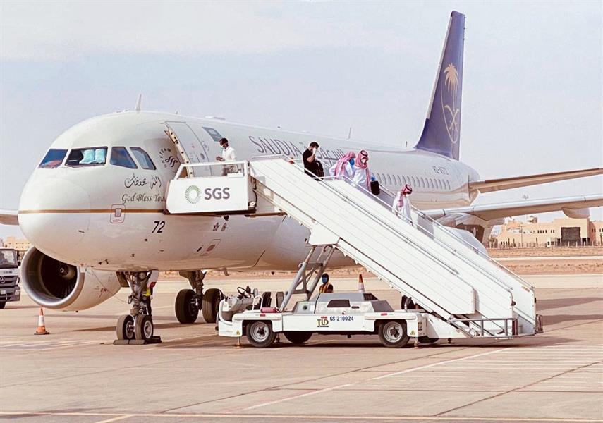 وصول 117 مواطناً إلى مطار القصيم قادمين من الأردن