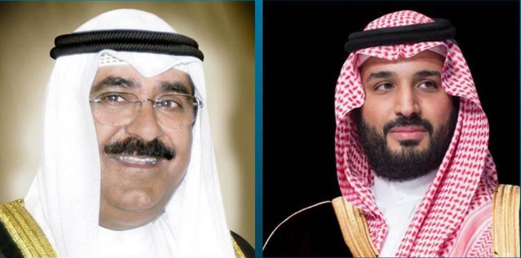الأمير محمد بن سلمان يجري اتصالاً هاتفياً بولي العهد بدولة الكويت