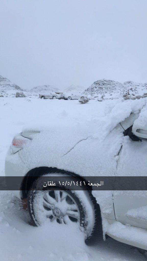 أخبار 24 شاهد تساقط الثلوج على بعض أجزاء منطقة تبوك وجبل