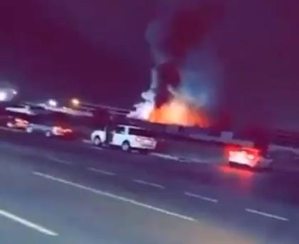 اندلاع حريق في بركسات تابعة لمحطة قطار الحرمين