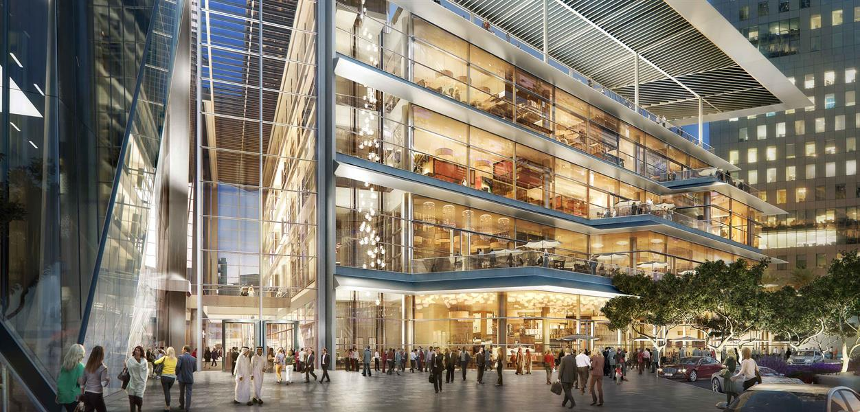3- بروكفيلد بليس   تبلغ قيمة المشروع المقام في دبي مليار دولار، ومن المقرر أن ينتهي العمل به في أبريل عام 2019م، ويشمل إنشاء م