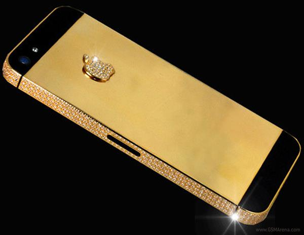 آيفون 5 بالذهب والماس