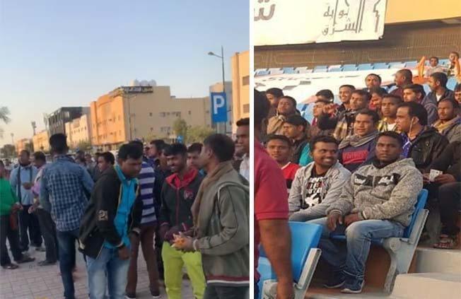فيديو لجماهير الشباب يُثير ضجة قبل انطلاق مباراة النصر
