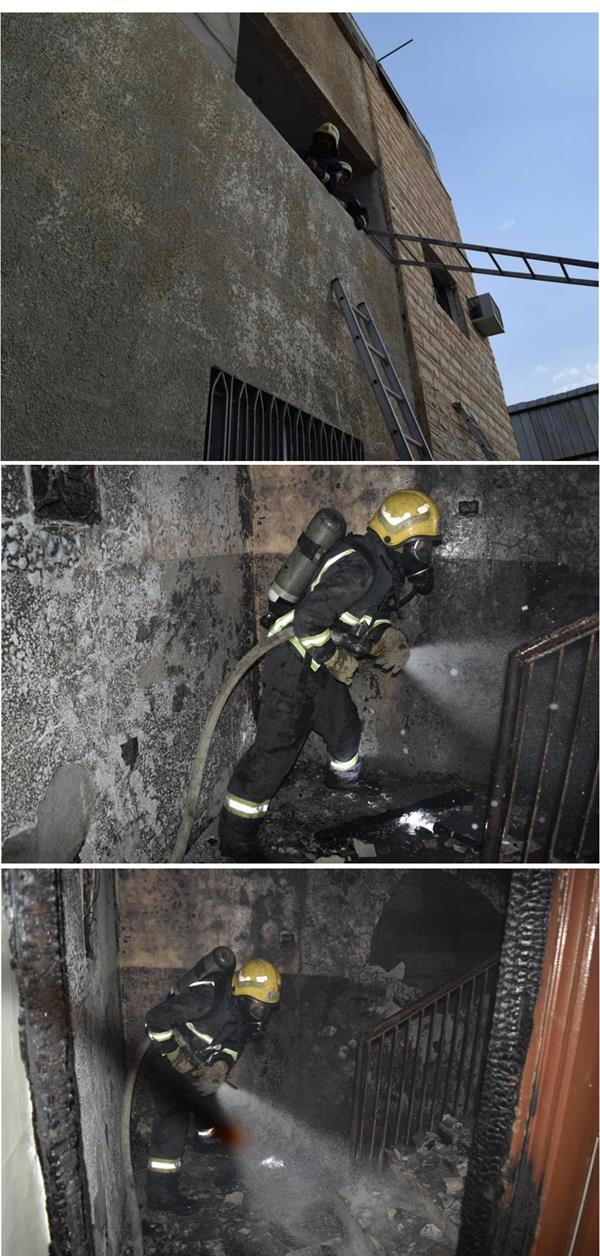 صور من الحريق