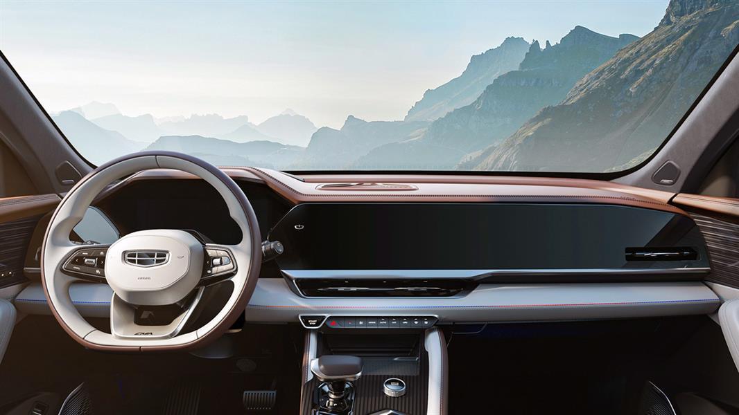 """بطول يقارب الـ5 أمتار.. """"جيلي"""" الصينية تكشف مواصفات أكبر سياراتها ذات الدفع الرباعي"""