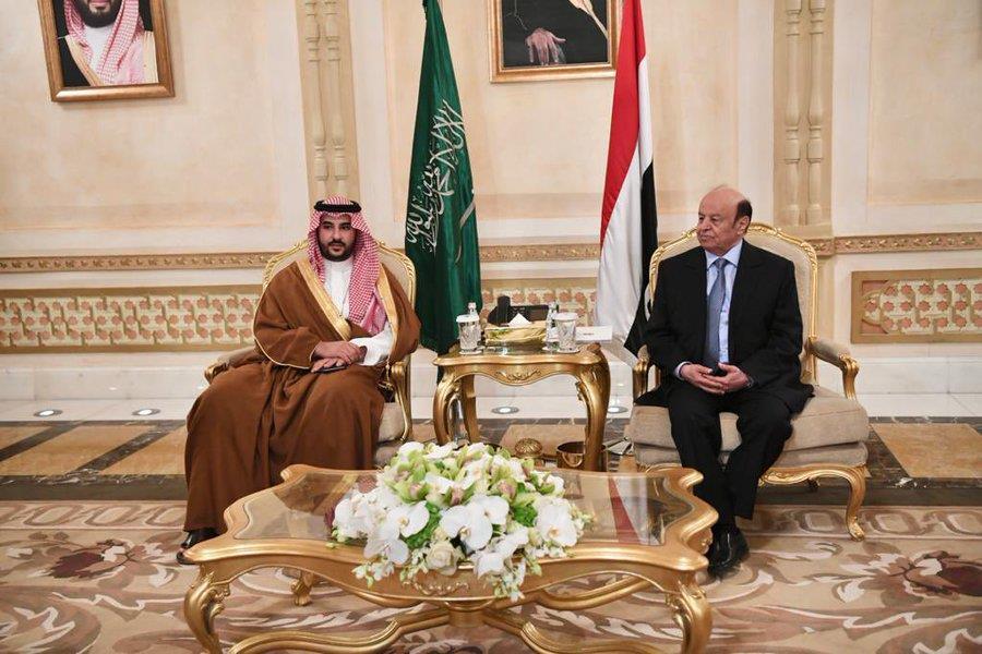 الأمير خالد بن سلمان يلتقي الرئيس اليمني
