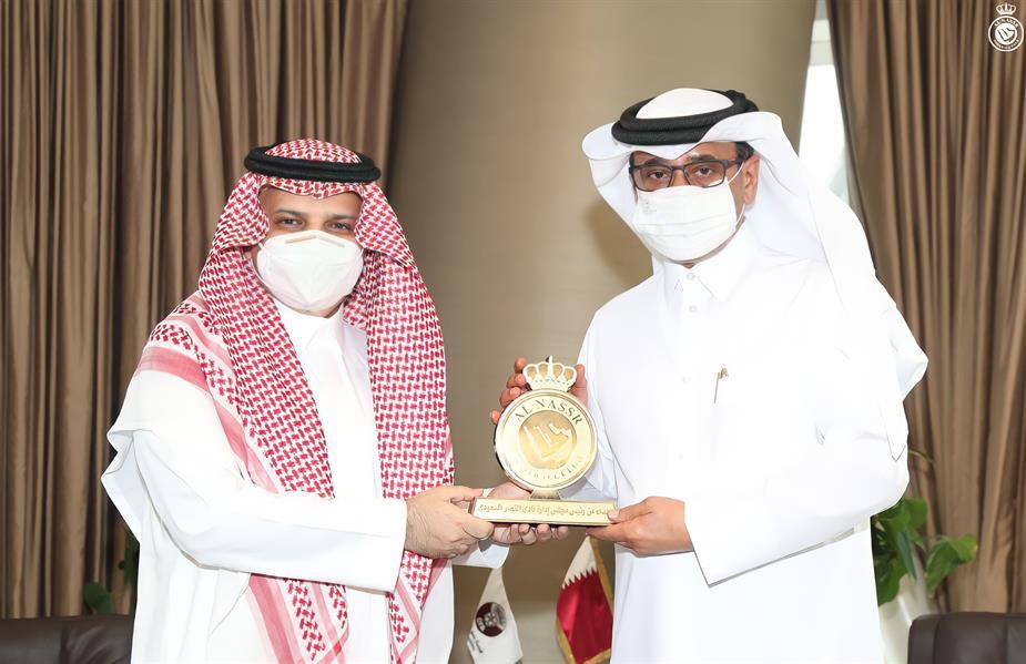 """رئيس نادي """"النصر"""" يشكر الاتحاد القطري لكرة القدم"""