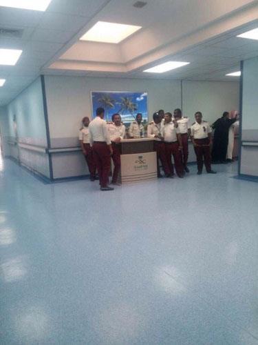 تجمع لرجال الأمن الصناعي بالمستشفى
