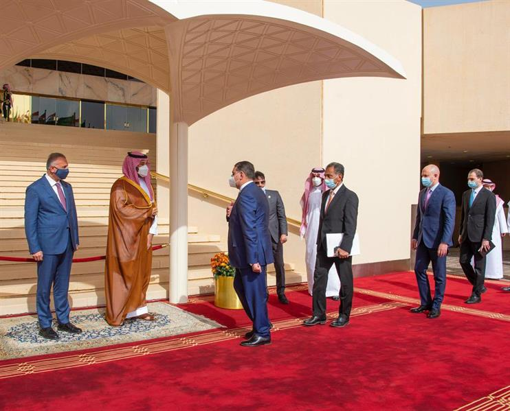 الأمير محمد بن سلمان ومصطفى الكاظمي