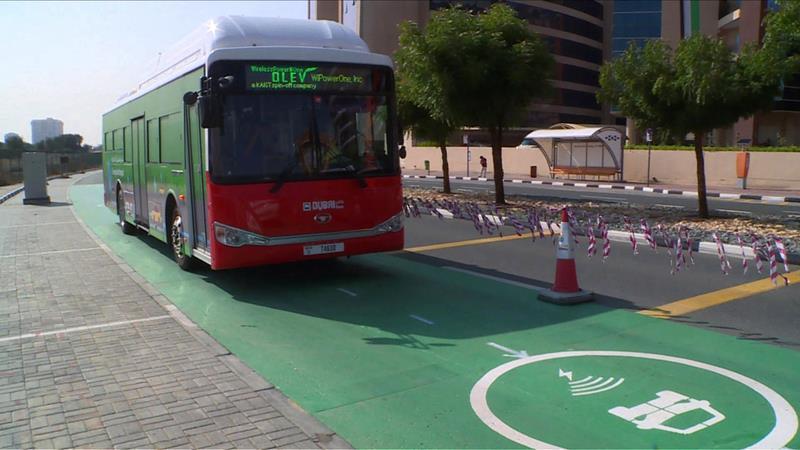 تشغيل شحن الحافلات أثناء سيرها تجريبياً في «دبي للسيليكون»