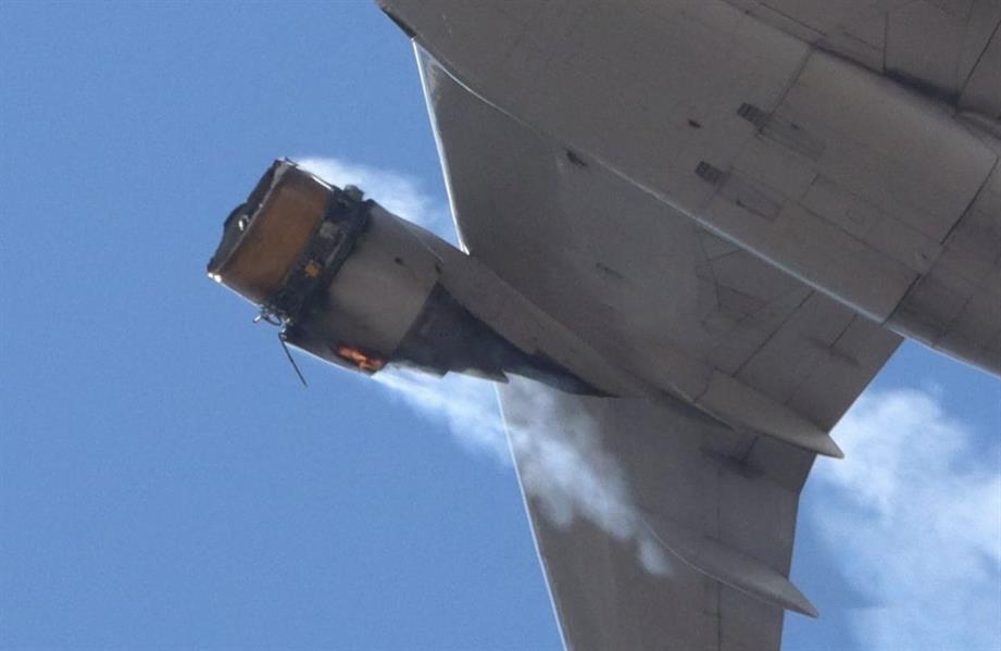 اشتعال محرك طائرة تحمل على متنها 231 راكباً بعد إقلاعها من مطار بأمريكا