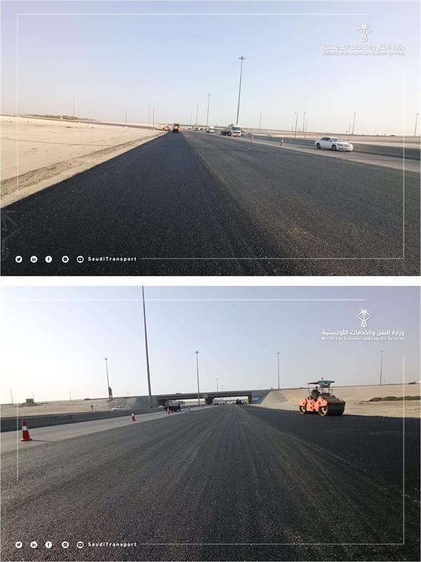 دأ العمل في المنطقة الواقعة بين تقاطع طريق الرياض وتقاطع بقيق