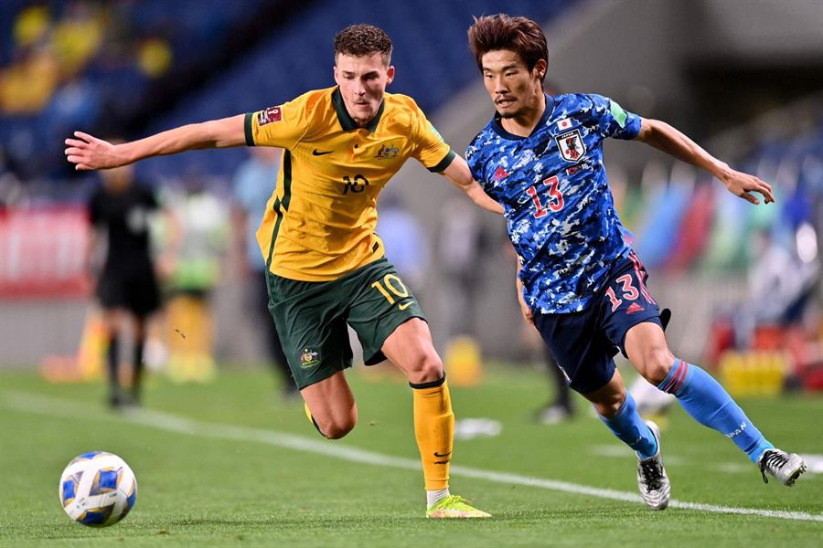 أهداف مباراة (اليابان 2 - 1 أستراليا) في تصفيات كأس العالم 2022