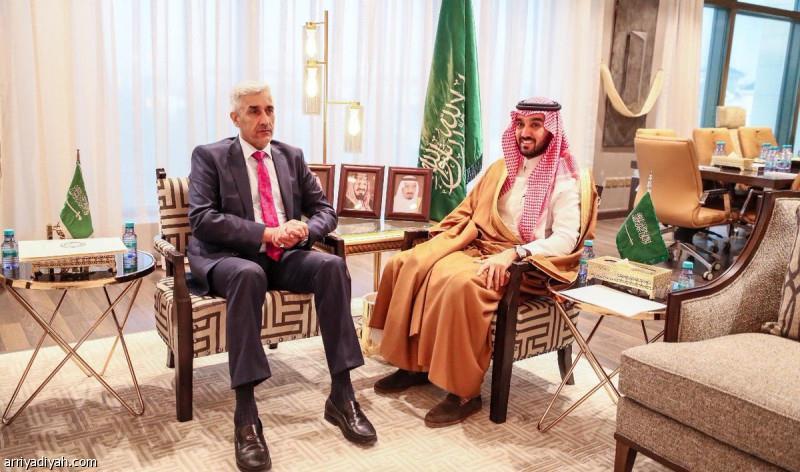 الفيصل يستقبل وزير الرياضة العراقي