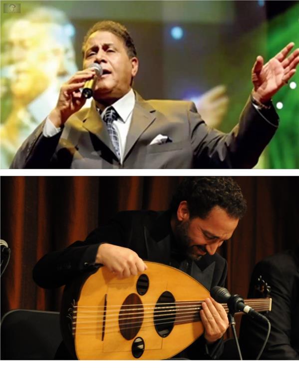المطرب سعدون جابر وعازف العود نصير شمة