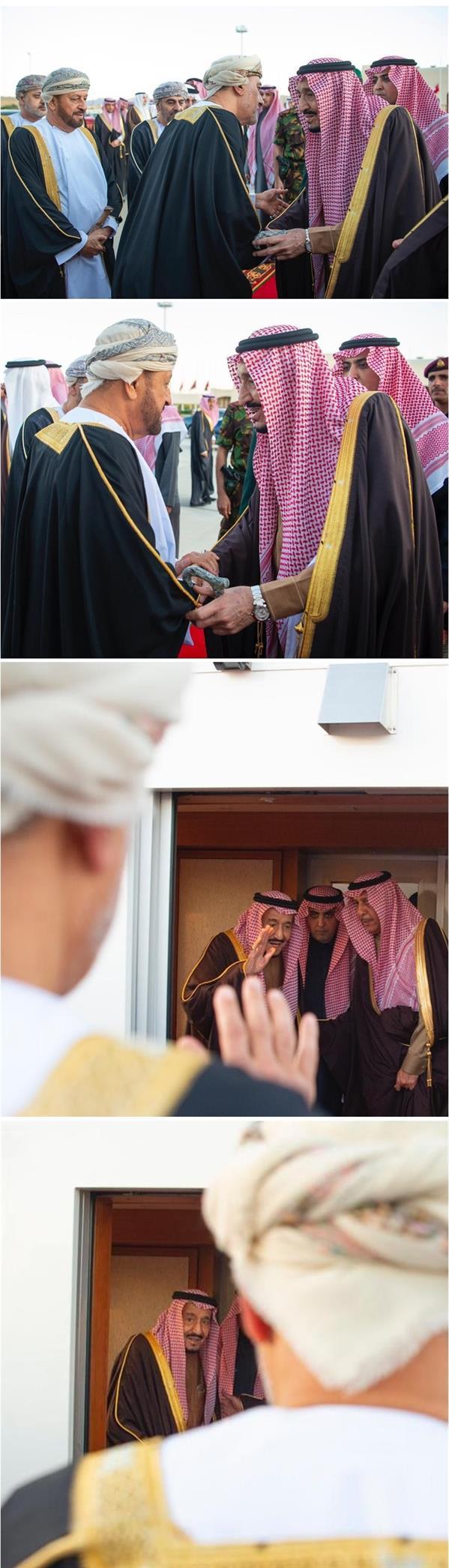 خادم الحرمين يغادر عُمان بعد تقديم التعازي في وفاة السلطان قابوس