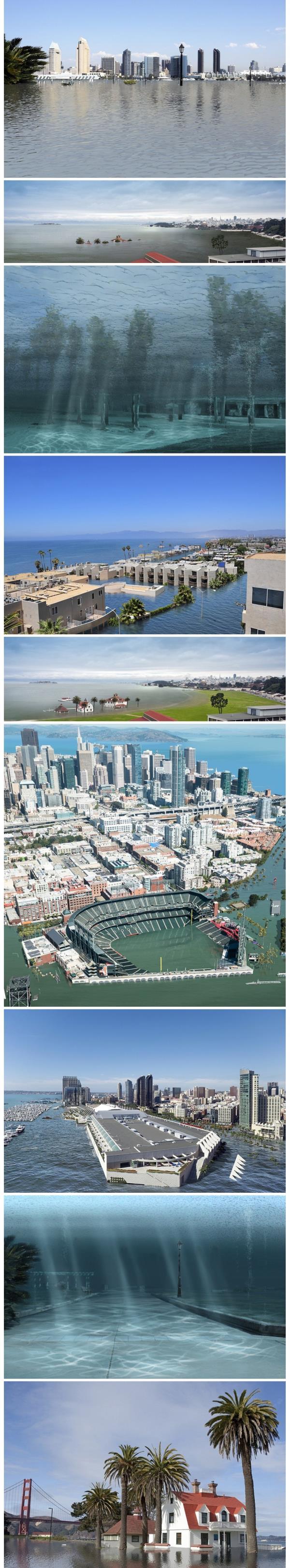 توقعات بغرق مدن أمريكية