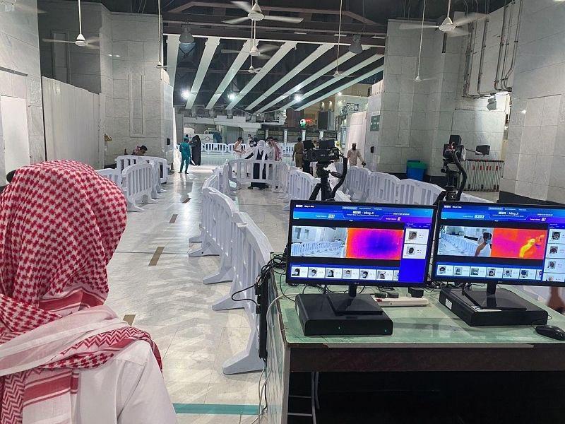 تركيب كاميرات حرارية عالية الدقة عند مداخل المسجد الحرام