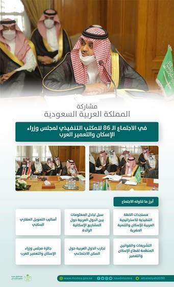 """""""البدير"""" يرأس وفد المملكة في اجتماع المكتب التنفيذي لمجلس وزراء الإسكان والتعمير العرب"""